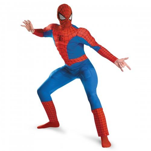 Взрослый костюм Человека-Паука с мускулами, размер XXL