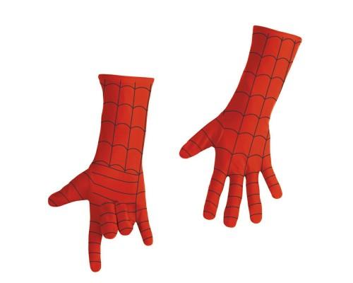 Взрослые длинные красные перчатки Человека-Паука