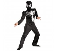Чёрный детский костюм Человека-Паука (Венома) с мускулами