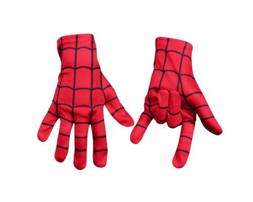 Красные взрослые перчатки Человека-Паука