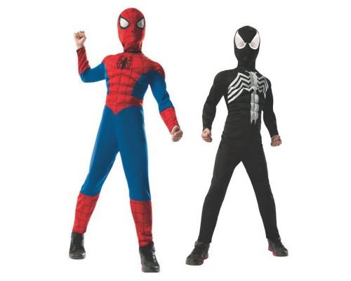 Двусторонний детский костюм Человека-Паука с мускулами