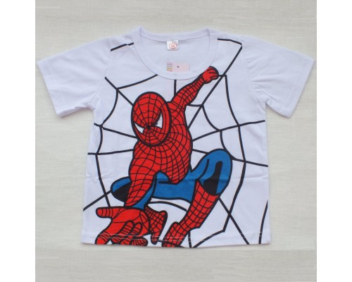Футболка белая с изображением Человека-Паука