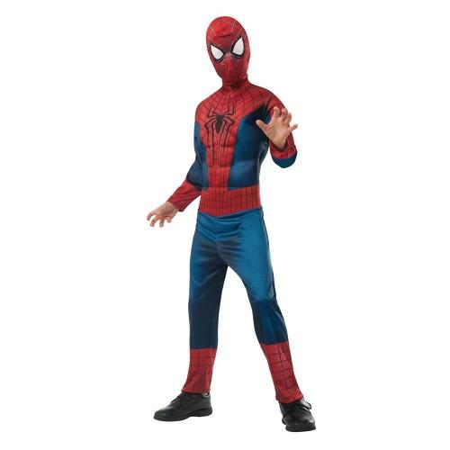 Детский костюм Человека-Паука с прорезиненными мускулами на груди, 7-12 лет
