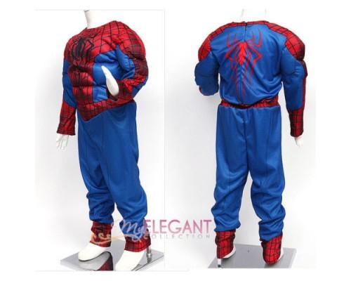 Улучшенный костюм Человека-Паука + перчатки, 125-135 см