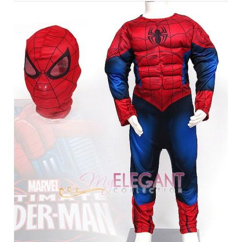 Костюм Человека-Паука с мускулами на молнии