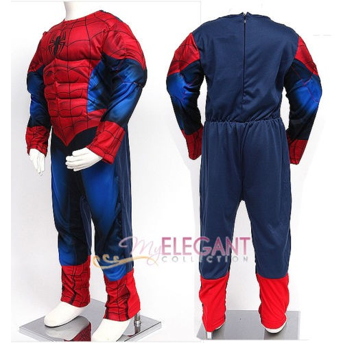Костюм Человека-Паука с мускулами на молнии, 110-120 см