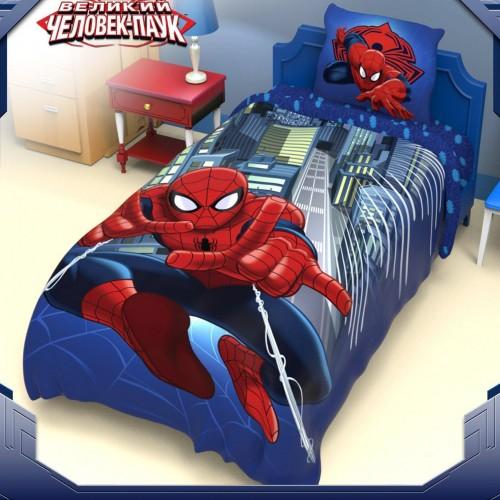 """1,5-спальный комплект постельного белья """"Человек-Паук"""", поплин"""